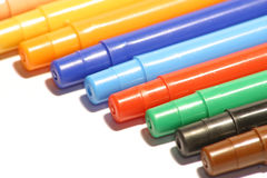 Color Pens. A lot of color pens Stock Photography