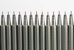 Color pens. On White Background Royalty Free Stock Photography