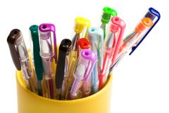 Color pens Stock Images