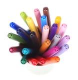Color pens Stock Photos