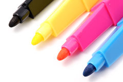 Color pens: CMYK Royalty Free Stock Images
