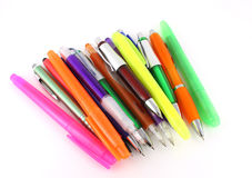 Color pens and felt-tip pens Stock Images