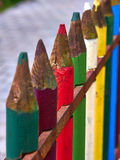 Color Pens Fence Stock Photography