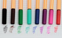 Color pens Stock Images