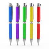 Color pens set Stock Photo