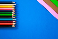 Color pens in various colors Stock Photo