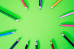 Color pens in various colors Royalty Free Stock Photography