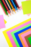 Color pens in various colors Stock Photography