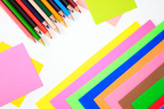 Color pens in various colors Royalty Free Stock Image