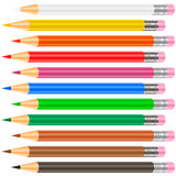 Color pensil. Isolated. Many color. Illustation Stock Images