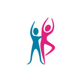 Color people couple dancing icon Royalty Free Stock Photography