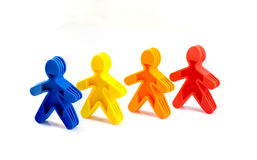 Color people in a line Stock Images