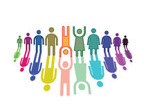 Color people symbols Royalty Free Stock Images