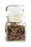 Color pepper spice. In glass jar Royalty Free Stock Photo