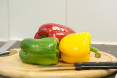Color peppers Stock Photo