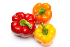 Color peppers. The top view Royalty Free Stock Images