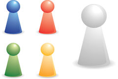 Color person pieces Royalty Free Stock Photo