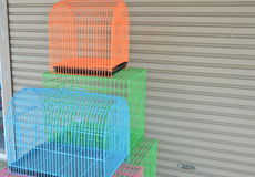 Color pet cage for sale Royalty Free Stock Images
