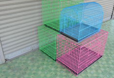 Color pet cage for sale Stock Images