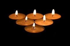Fire candles Stock Photo