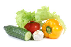 Vegetables on white Royalty Free Stock Photo