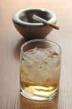 Whiskey and cigarette Stock Photos