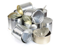 Cans in landfill Royalty Free Stock Photos
