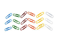 Color photo paperclips Stock Photos