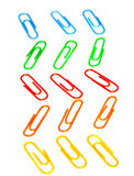 Color photo paperclips Stock Photography