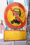 Sign prohibiting movement Royalty Free Stock Photo