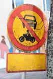 Sign prohibiting movement Royalty Free Stock Photo