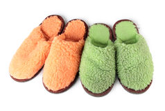 Slippers on white background Stock Photography