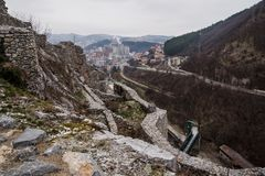 Fortress and Uzice town royalty free stock photos