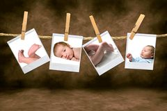 Color Photographs of a Baby Boy Stock Photo