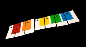 The color piano Royalty Free Stock Photo