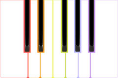 Color piano keys Royalty Free Stock Photos