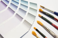 Color picker with brush. Color picker detail with many different colors to choice Royalty Free Stock Photos