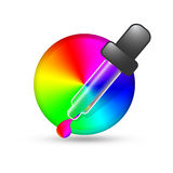 Color picker icon Stock Photography