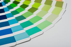 Color picker palette isolated on white background. Top view studio product photograph Royalty Free Stock Image