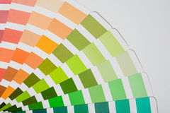 Color picker palette isolated on white background. Top view studio product photograph Royalty Free Stock Photo