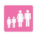 Color pictogram square with family Royalty Free Stock Images