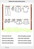 Color the picture - dry clothes in the sun vector illustration