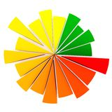 Color Pie Diagram Stock Images