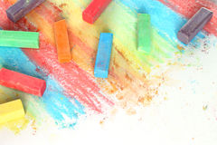 Color pieces of chalk Royalty Free Stock Photos