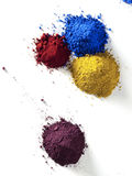 Color pigment. Composition made by color pigment Stock Photo