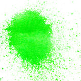 Color pigment sprinkles on white paper. Sprinkles of paint color pigments on white paper Stock Image