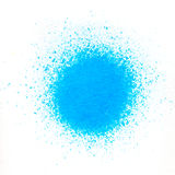Color pigment sprinkles on white paper. Sprinkles of paint color pigments on white paper Royalty Free Stock Photo