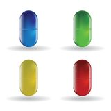 Color pill Royalty Free Stock Photography