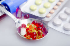 Color pills Stock Photos