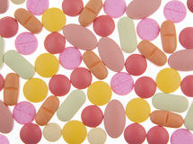 Color pills background Royalty Free Stock Images